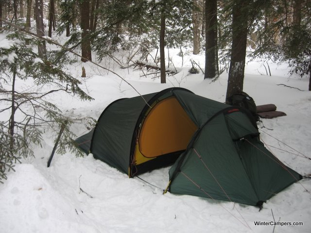 Jim brought his Black Diamond Lighthouse u2013 a 2 person tent under 4lbs that makes a great solo tent for a tall dude. The tent walls are steep and shed snow ... & Winter Camping at Dead Vly « WinterCampers.com