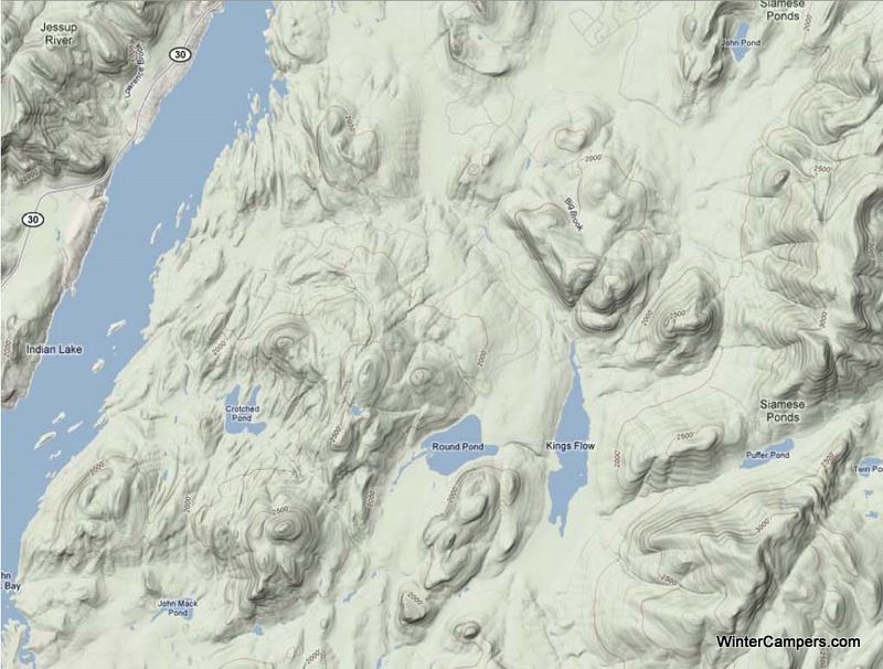 Chimney Mtn Map