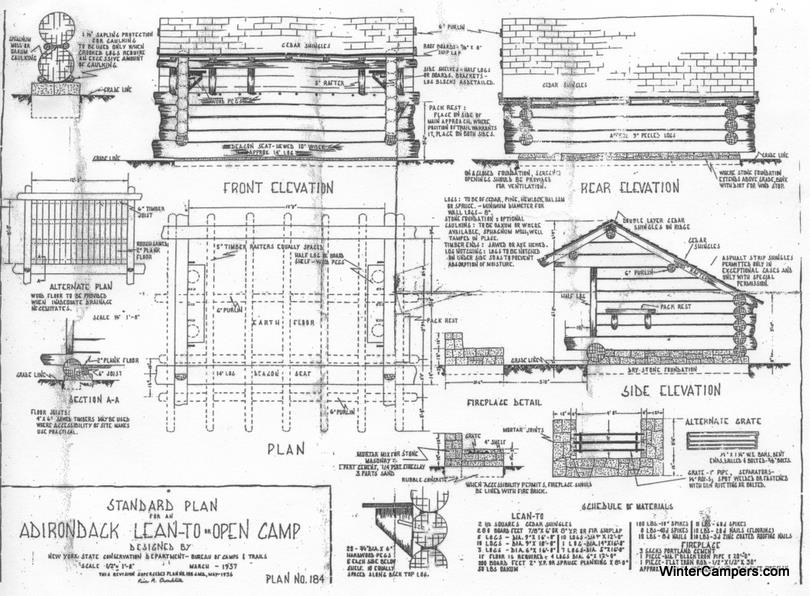 Adirondack lean to building plans for Adirondack house plans