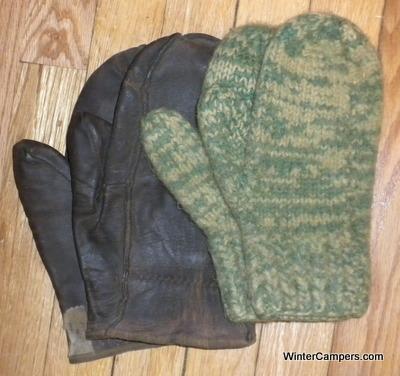 ... lighter weight deer hide choppers with a loose fleece mitten insert