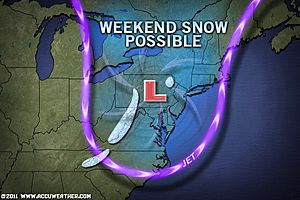 AccuWeather predicts First Blast of Winter Headed East This Weekend